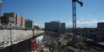 Building progress of Laurier Brantford YMCA Athletics and Recreation Centre