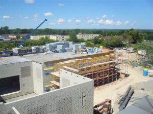 Building progress of Monsignor Lee Catholic School